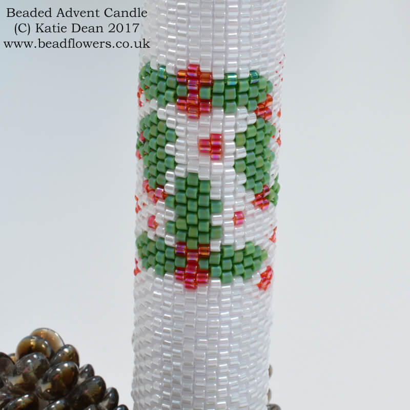 Beaded Advent Candle Pattern, Katie Dean, Beadflowers
