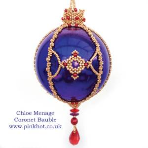 Beaded Christmas Ornament Ideas, Chloe Menage, Pinkhot.co.uk