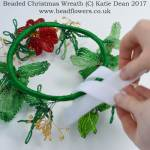 How to make a beaded Christmas Wreath, Katie Dean, Beadflowers