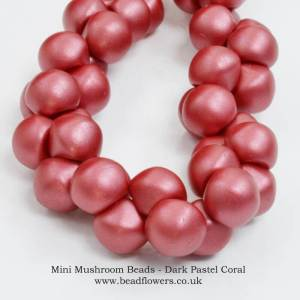 Mini Mushroom Beads UK, Katie Dean, Beadflowers