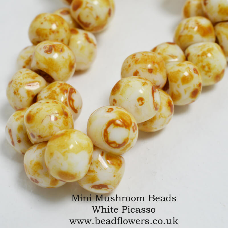 Mini Mushroom Beads, UK, Katie Dean, Beadflowers