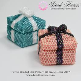 Parcel Beaded Boxes Pattern, Katie Dean, Beadflowers