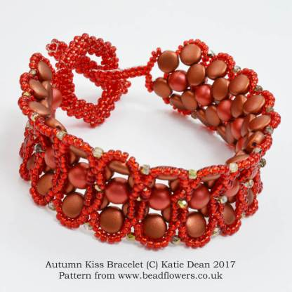 Autumn Kiss Bracelet Pattern, Katie Dean, Beadflowers