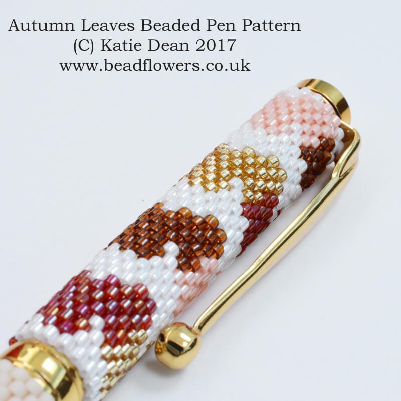 Autumn Beaded Pen Pattern, Katie Dean, Beadflowers