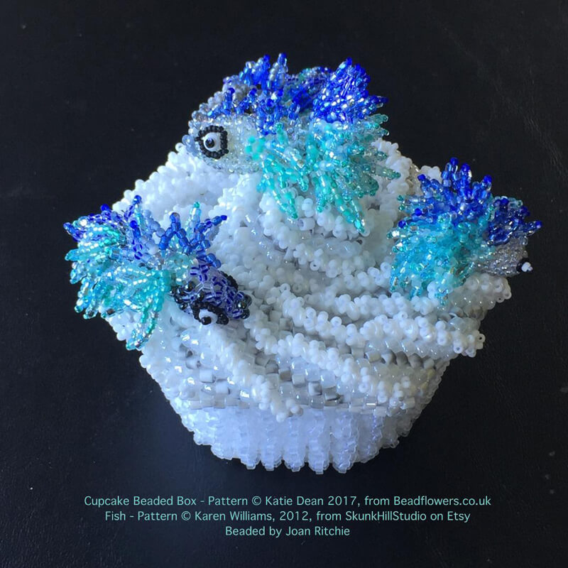 Cupcake beaded box, Katie Dean, Beadflowers