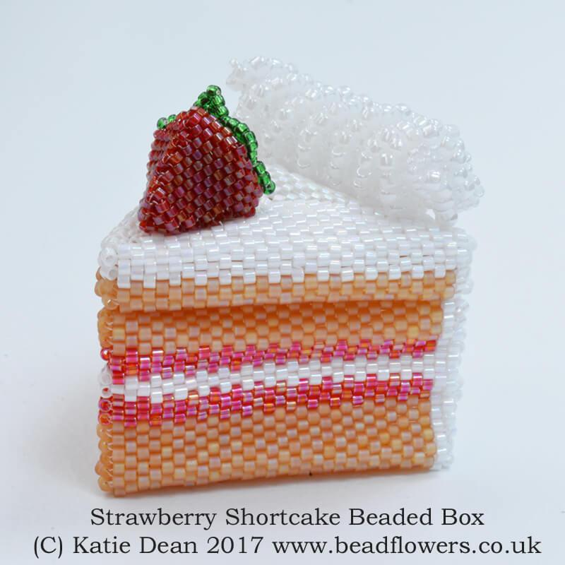 strawberry shortcake beaded box kit and pattern, Katie Dean, Beadflowers