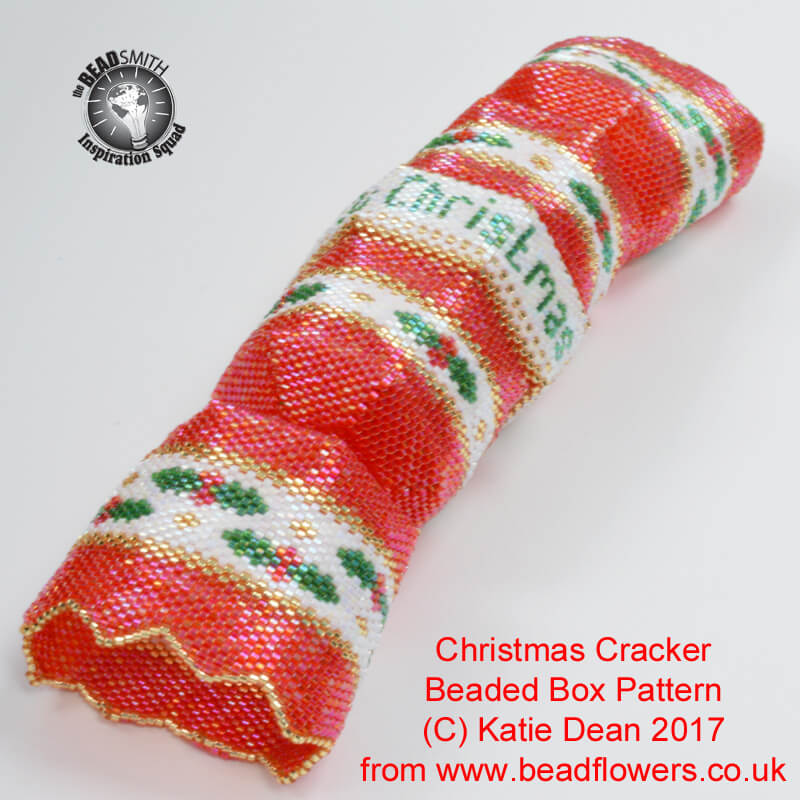 Beaded Christmas Cracker Box Pattern, Katie Dean, Beadflowers