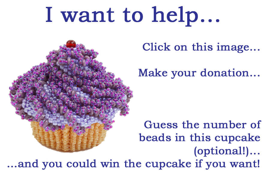 CFS/ME Beaded Cupcake Fundraiser, Katie Dean, Beadflowers