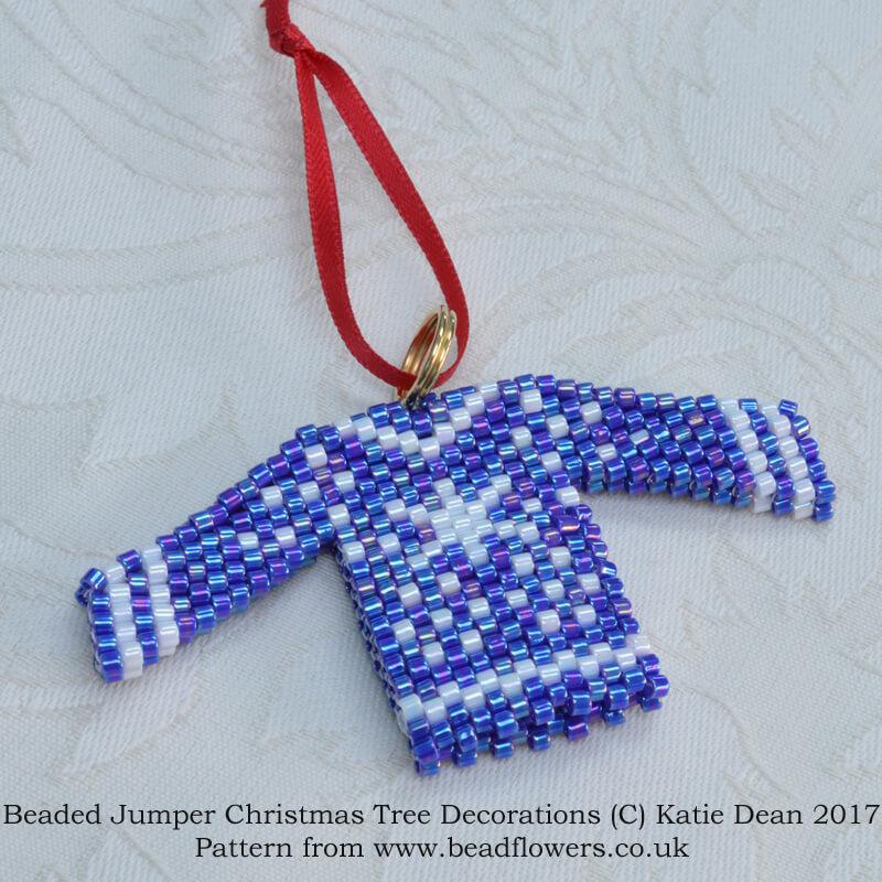 Beaded Christmas Jumper Pattern, Katie Dean, Beadflowers