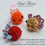 Netted Fish Beaded Beads Pattern, Katie Dean, Beadflowers