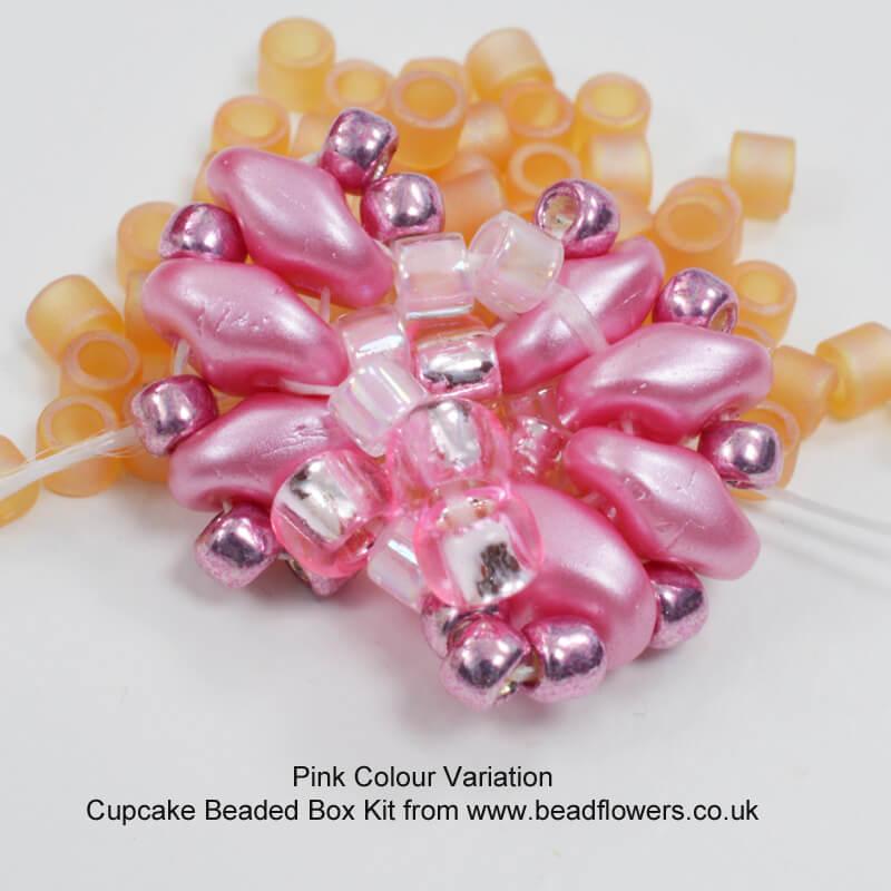 Cupcake Beaded Box Kit, Katie Dean, Beadflowers