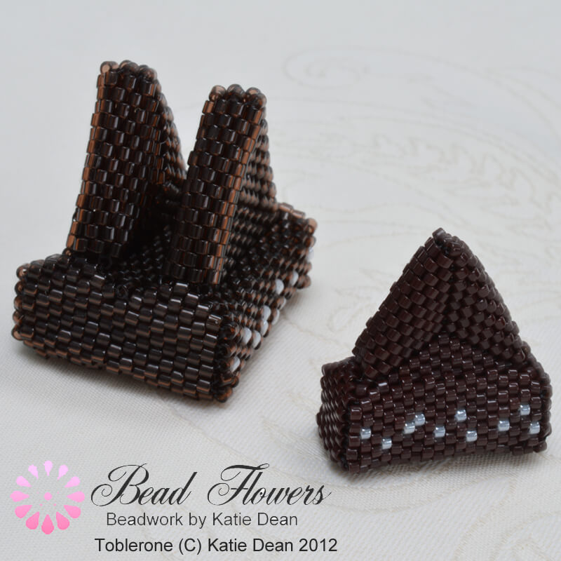 Beading Pattern Instructions for Toblerone, Katie Dean, Beadflowers
