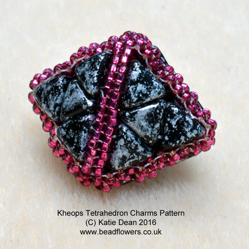Kheops Charm Tetrahedron, Katie Dean, Beadflowers