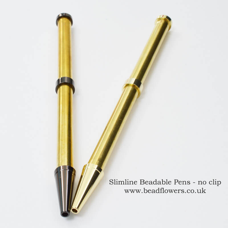Slimline beadable pens, Katie Dean, Beadflowers