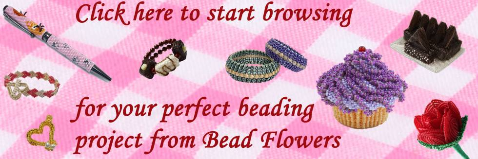 Free stuff, Bead Flowers, Katie Dean, Free beading pattern for all new users