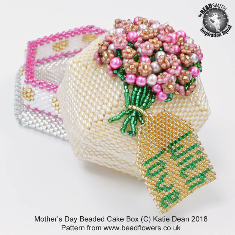Beaded Cake Box Tutorial for Mothers Day or Birthday, Katie Dean, Beadflowers