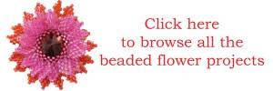 Beaded flower projects, Katie Dean, Beadflowers