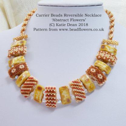 Carrier Beads Necklace Pattern: reversible design, Katie Dean, Beadflowers