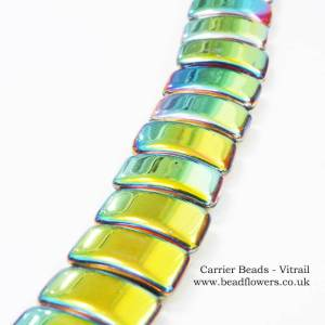 Carrier Beads UK stockist, 8x17mm, choice of colours, Katie Dean, Beadflowers