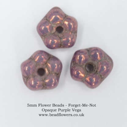 5mm Flower Forget Me Not Beads, beadflowers