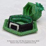 Celebrating Saints Days in beads, St Patricks Day Gift Box beading pattern and kit