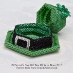 Celebrating Saints Days in beads, St Patricks Day Gift Box beading pattern and kit