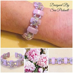 Carrier Beads Bracelet Designed by Sue Picknell