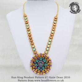 Sun King Pendant Pattern, Katie Dean, Beadflowers