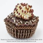 Death by chocolate cupcake beaded box kit and pattern, Katie Dean, beadflowers