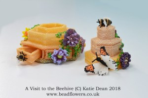 A visit to the Beehive, Katie Dean, Beadflowers, beaded bee hotel inspiration