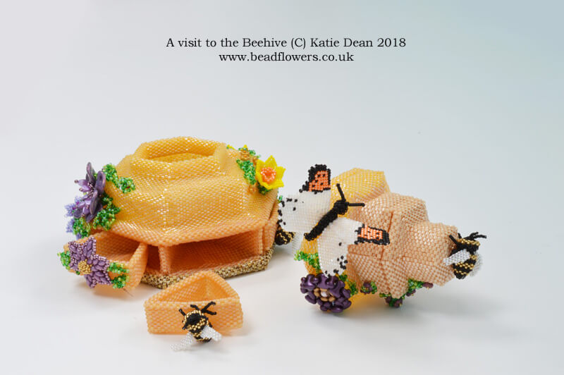 Bead Dreams 2018, A visit to the beehive, Katie Dean, BeadflowersBead Dreams 2018, A visit to the beehive, Katie Dean, Beadflowers