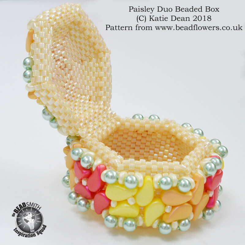 Paisley Duo Beaded Box Kit and Pattern, Katie Dean, Beadflowers
