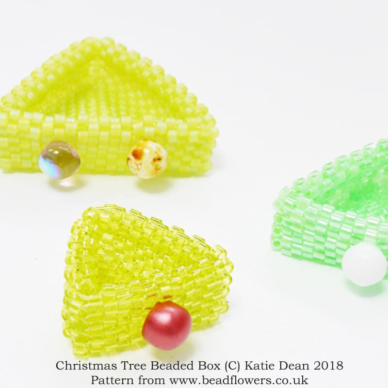 Christmas tree beaded box, Katie Dean, Beadflowers