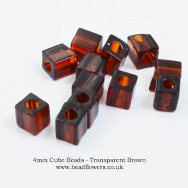 4mm Miyuki Cube Beads, 5g packs, buy from Katie Dean, Beadflowers