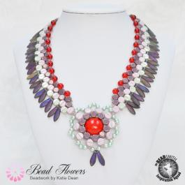 Kos Beads Collar Necklace Pattern, Katie Dean, Beadflowers