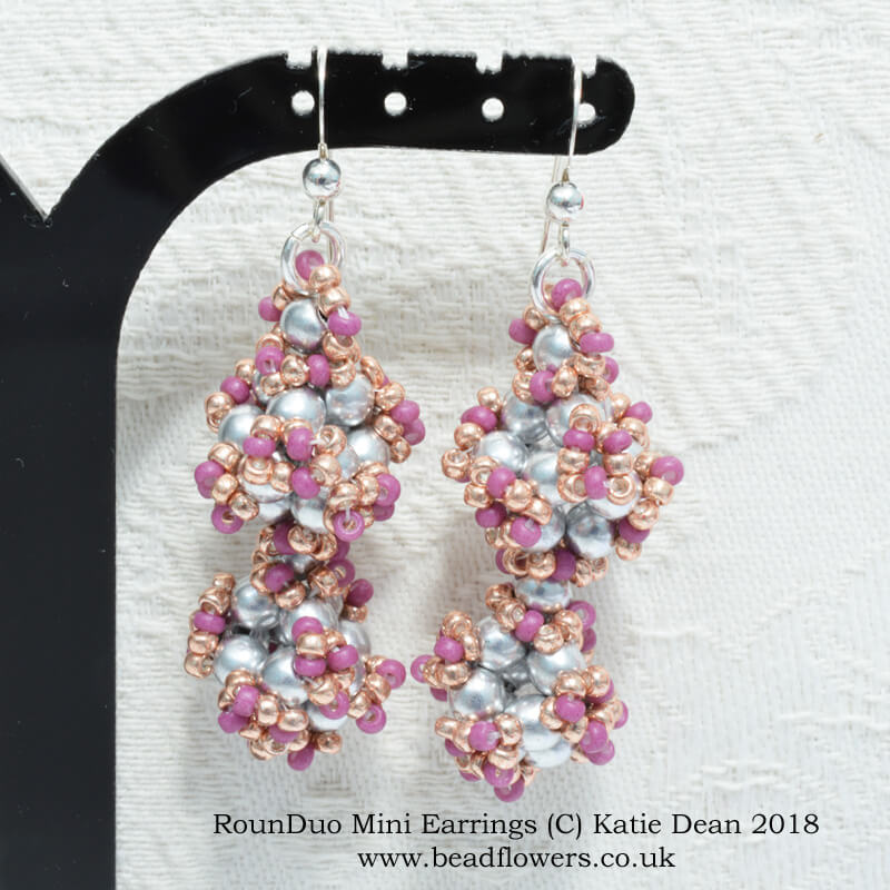 RounDuo Mini Beads Pattern for Earrings, Katie Dean, Beadflowers