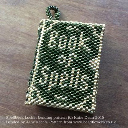 Spellbook Locket beading pattern, Katie Dean, Beadflowers