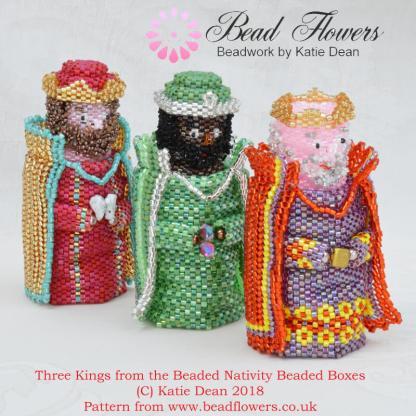 Beaded Nativity Pattern for Beaded Boxes, Katie Dean, Beadflowers