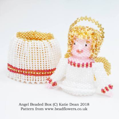 Angel Beaded Box Pattern, Katie Dean, Beadflowers