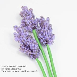 French beaded lavender pattern, by Katie Dean, Beadflowers
