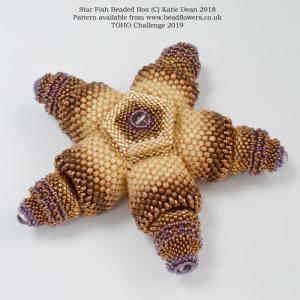 Starfish beaded box pattern, TOHO challenge 2019, Katie Dean, Beadflowers