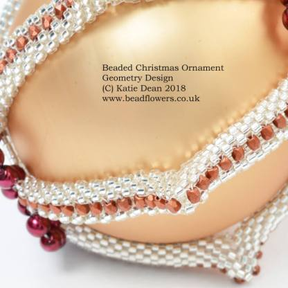 Beaded Christmas Ornament, Geometry Design, Katie Dean, Beadflowers