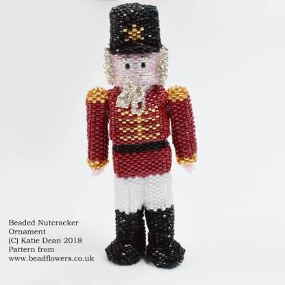 Beaded Nutcracker Ornament Pattern, Katie Dean, Beadflowers