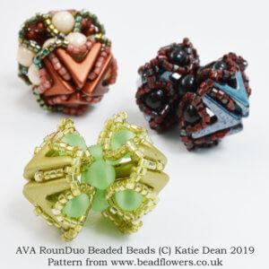 AVA RounDuo Beaded Bead Pattern, Katie Dean, Beadflowers