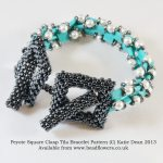 Peyote square clasp tile bracelet pattern by Katie Dean, Beadflowers