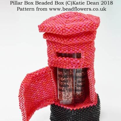 Pillar Box Beaded Box Pattern, Katie Dean, Beadflowers