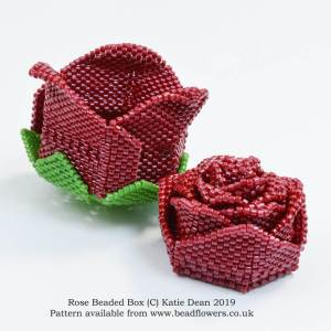 Rose beaded box pattern, Katie Dean, Beadflowers, Most popular beading patterns for 2019