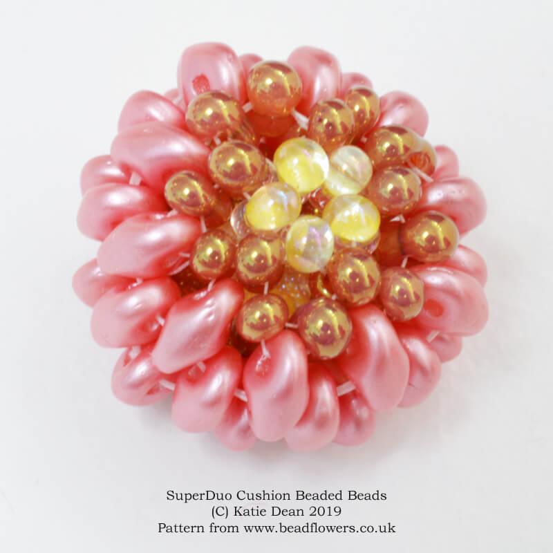 SuperDuo Cushion Beaded Beads pattern, Katie Dean, Beadflowers