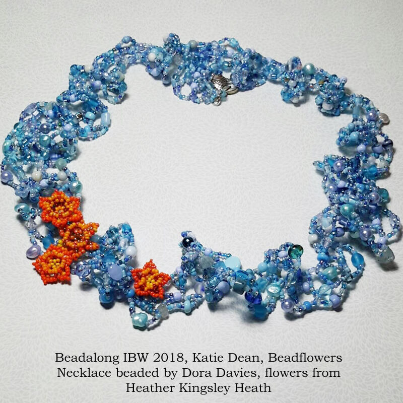 Ogalala butterfly necklace pattern, Katie Dean, Beadflowers