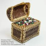 Treasure chest beaded box pattern, Katie Dean, Beadflowers